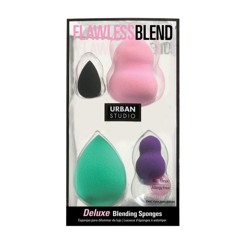 Deluxe Blending Sponge (4pcs) - Light Pink & Green