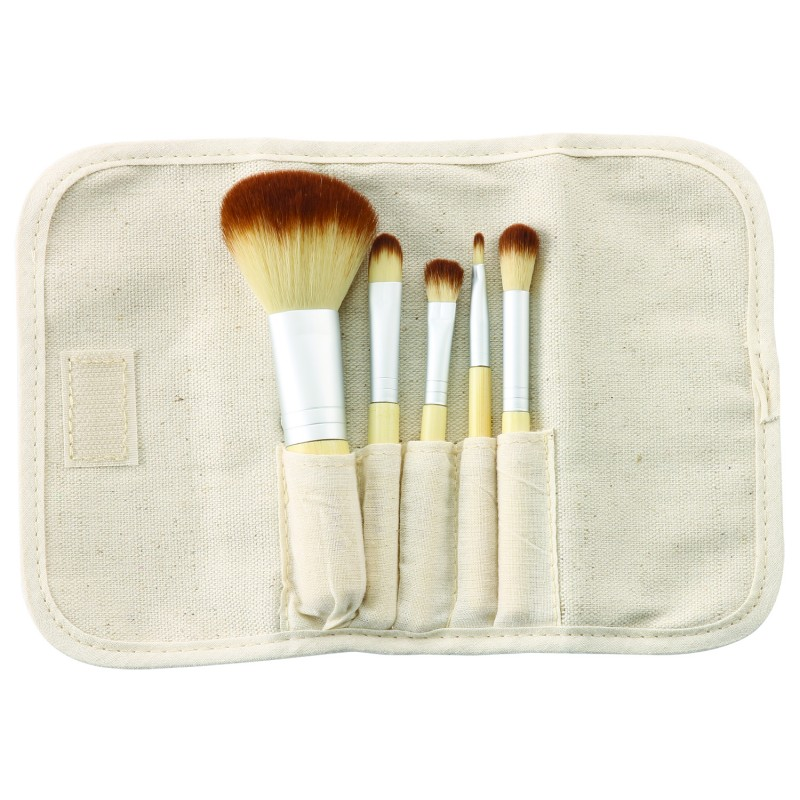 5-pc Travel Bamboo Brush Set