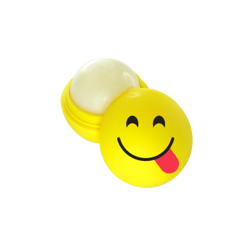 Emoticons Lip Balm - Tongue Out Wide Eye