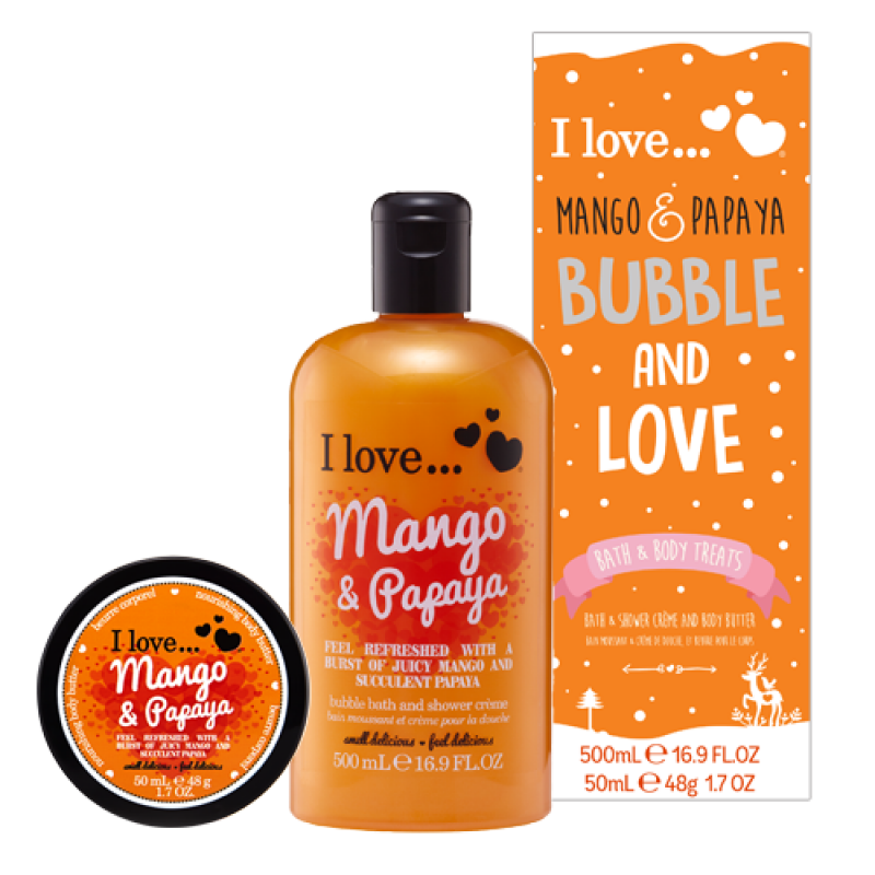 Bubble And Love Mango And Papaya