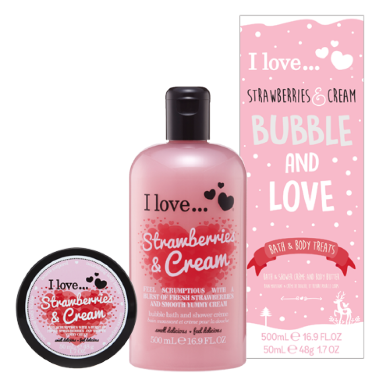 Bubble And Love Strawberry And Cream