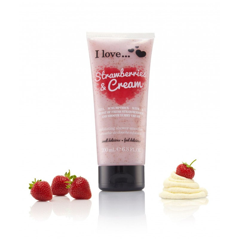 Strawberry & Cream Exfoliating Smoothie 200ml