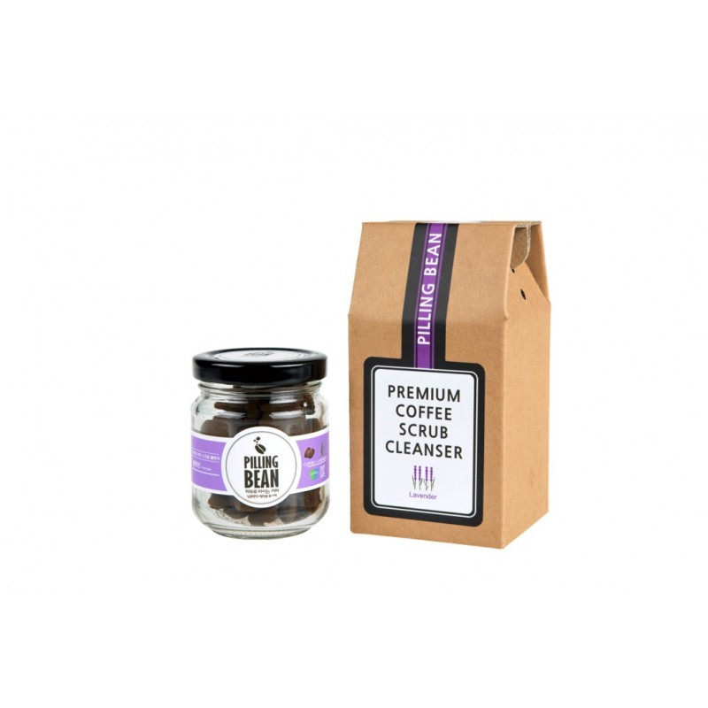 Pilling Bean Coffee Facial Scrub 50g - Lavender