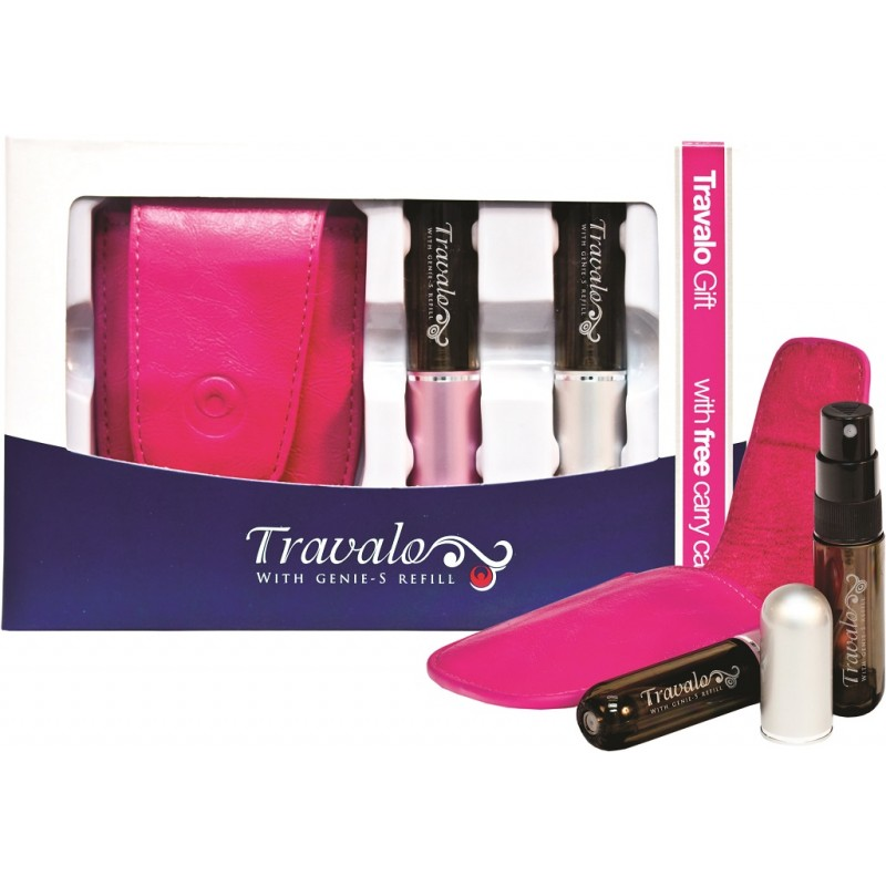 Pure Excel 5ml Gift Set (Pink Case) - SLIGHT DEFECT ON LEATHER CASE